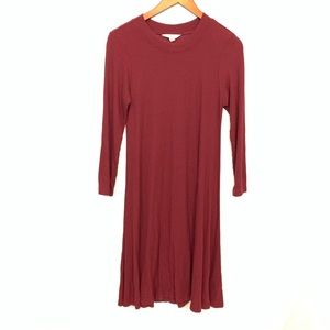 American Eagle Soft & Sexy Maroon Swing Dress Sz S